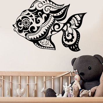 Vinyl Wall Decal Fish Ornament Ocean Marine Nursery Stickers Unique Gift (ig3480)