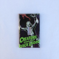 hand crafted decorator light switch cover with Creature from the Black Lagoon design