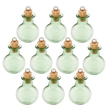 10pc Glass Cork Bottles