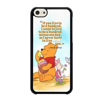 WINNIE THE POOH QUOTE Disney iPhone 5C Case Cover