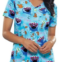 Buy Tooniforms Women Nom Nom V-Neck Scrub Top for $20.95