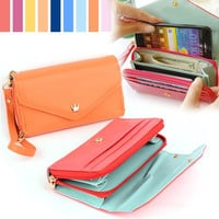 Multifunctional Purse Envelope Wallet Pouch Case for Samsung Galaxy S4 S5 Note 3 7_S = 1905812804