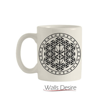 Tree Of Life, Flower Of Life Pattern, 11 Oz. T00107