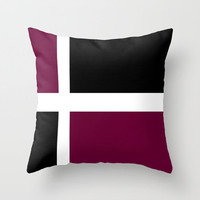 Black Marsala White Pillows Pantone Marsala Pillows White Accent Deep Wine Decorative Pillow Accented with White and Black Faux Down Insert