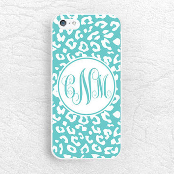 Leopard print Monogram phone case for iPhone 6, Sony z1 z2 z3, LG g3 g2, Moto X Moto G, HTC One m7 m8, Nexus 6 personalized custom name case