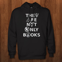 They Are Not Only Books Hoodie for size s-3xl, for color black, white, gray, and red