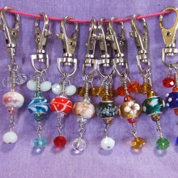 Dangle European Bead Inspired Zipper Pull Purse Beach Bag Tote Charm