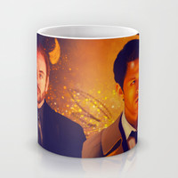 Good & Bad - Supernatural - Castiel Crowley Mug by KanaHyde