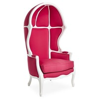 Cormac Dome Chair, Fuchsia/White