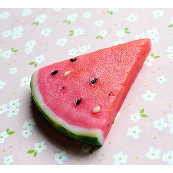 Watermelon Slice Polymer Clay Miniature Food Magnet Refrigerator Magnet