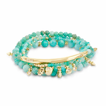 Supak Beaded Bracelet Set in Amazonite | Kendra Scott