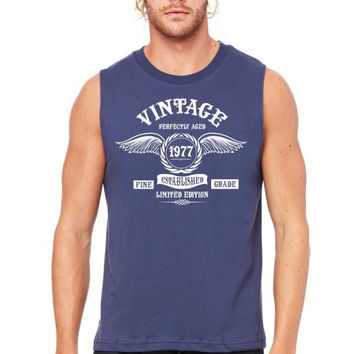 Vintage Perfectly Aged 1977 Muscle Tank