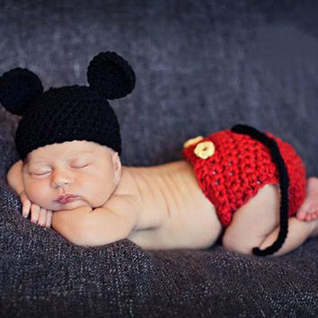Newborn Baby Crochet Knit Costume Photo Photography Prop Girls Boys Outfits Fotografia Clothes and Accessories