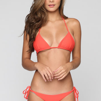 Reversible Triangle Bikini Top in Mexi Time