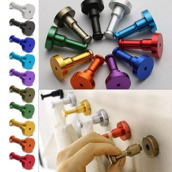 Newly DIY Towel Wall Hook Bathroom Kitchen Clothes Key Hat Bag Hanger Rack Holder Wall Mounted  Top Quality Free Shipping