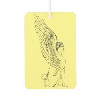Vintage Sphinx illustration Car Air Freshener