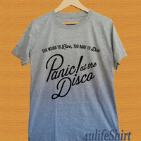 Panic! at the disco shirt sport gray unisex size S,M,L,XL