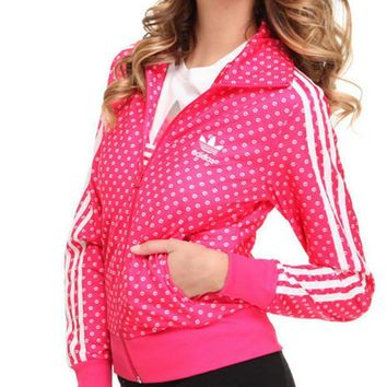 Adidas Three Stripe Lovely Plump Lips Print Jacket
