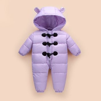 2017Winter Jumpsuit Kids Baby Snowsuit 90% Duck Down Jacket for Girls Coats Park For Boys Overalls Snow Wear Children's Clothing