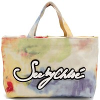 Logo-embroidered tie-dye canvas tote | See By Chloé | MATCHESFASHION.COM UK