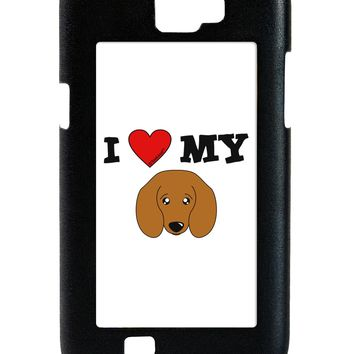 I Heart My - Cute Doxie Dachshund Dog Galaxy Note 2 Case  by TooLoud