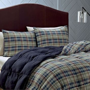 Eddie Bauer Rugged Plaid Down-Alternative Comforter Set - King