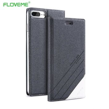 FLOVEME PU Leather Flip Case For Samsung Galaxy S8 S8 Plus S7 S6 Edge S5 Note 5 Coque Luxury Phone Stand Cover For Samsung S6 S7