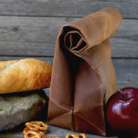 Waxed Canvas Reusable Lunchbag