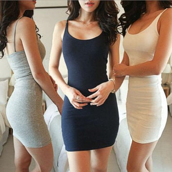 2017 Plus Package Bodycon Party Spaghetti Long Slim Strap Hip Women'S Beach Summer Clothing Dresses Size Women Clothes Dress