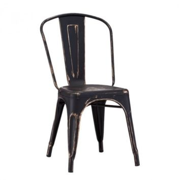 Helio Dining Chair | Antique Black Gold