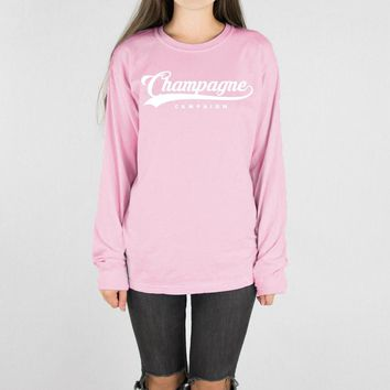 Champagne Campaign Long Sleeve Tee