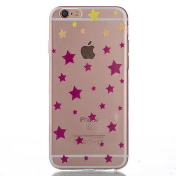 Womens Hollow Out Stars Case Cover for iPhone 5s 5se 6s Plus Free Gift Box 43