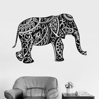 Vinyl Wall Decal Elephant Ornament Animal Tribal Decor Stickers (ig3534)