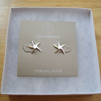 Giani Bernini~Sterling Silver 925~Starfish~Stud Earrings~$60~Beach Nautical