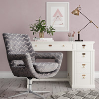 Fifi Grey Swivel Chair