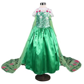 Flower Girl Dress Mermaid Children Clothing Girl 10 Years Cosplay Disguise Costume Kids Party Dress For Girls Teenager Clothes