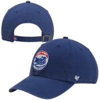'47 Brand New Jersey Nets Clean Up Adjustable Hat - Royal Blue