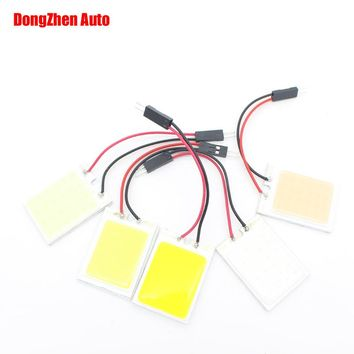 1X Car W5W T11 Ba9s 4W COB 24 New LED T4W H6W W6W Interior Reading Light Auto T10 Festoon 5W5 Dome C5W C10W Adapter Panel Lights