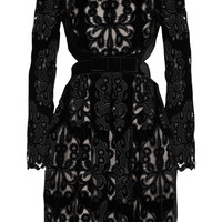 Erdem - Franzi laser-cut embroidered velvet dress