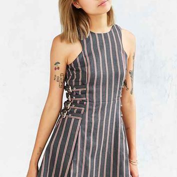 J.O.A. Striped Side-Buckle Dress