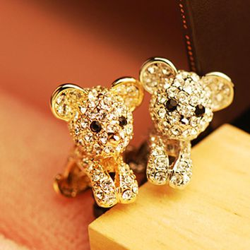 5pcs/lot Cute Diamond Puppy Shape Phone Anti Dust Plug Cell Phone Accessories For Iphone And All Normal 3.5mm Earphone Jack Plug