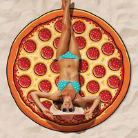 Pizza Giant Beach Blanket