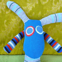 OOAK oilver handmade recycled stuffed animal by zanimal on Etsy