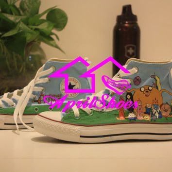Adventure Time Converse Shoes Custom Converse Jack and Finn on High Top Converse