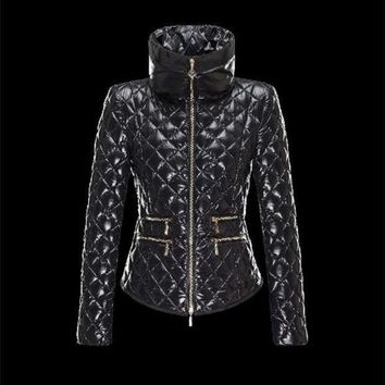 VONE2IS Moncler GUERY classic Turtleneck Black Jackets Nylon/Polyamide Womens 41456719RW