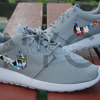 Nike Roshe Run Grey White Batman Vs Superman Custom