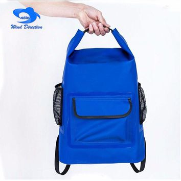 20L outdoor camping PVC waterproof backpack swimming upstream  mountain climbing bag camping surfing fishing drift isolation bag