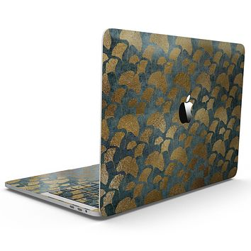 Navy Gold Foil v11 - MacBook Pro with Touch Bar Skin Kit