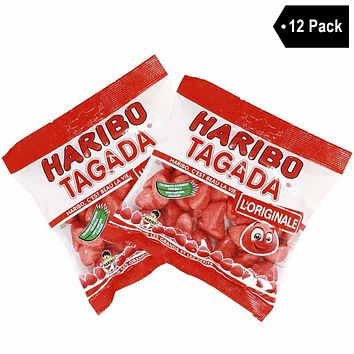 12 Pack Haribo French Tagada Strawberry Candy