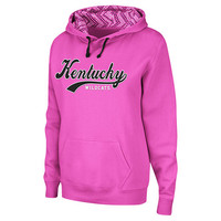 Women's Kentucky Wildcats College Pink Pullover Hoodie